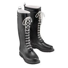 Ilse Jacobsen Lace-up Wellies - The design classic among wellies: The lace-up boot by Ilse Jacobsen, Hornbaek.