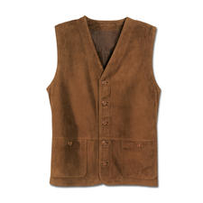 Washable Leather Waistcoat - Your favourite soft waistcoat will come out of the washing machine looking like new.