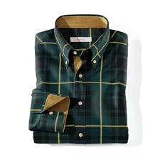 Ingram Tartan Shirt - Classy enough to wear with elegant sports jackets. Muted colours. Fine fabric. Exquisite details.