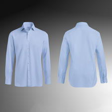 Tailor Fit, single button cuffs, Light Blue