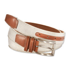 Italian Linen/Leather Belt - Summery light. Stylish. Sturdy : The linen belt with a leather lining.