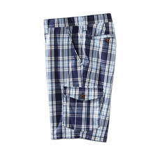 Eurex By Brax Glen Check Bermuda Shorts - The stylish way to wear check shorts. In classic glen check and maritime colours, with a proper length.
