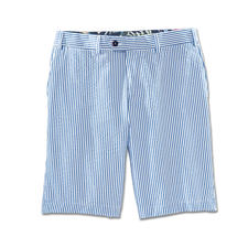 Hiltl Seersucker Bermuda Shorts - Twice as airy. Ultra stylish: Seersucker bermuda shorts in nautical style.