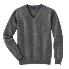 V-Neck, Grey Heather
