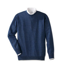 Round-Neck, Blue Heather