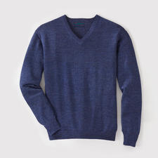 V-Neck, Blue Heather