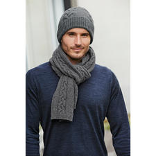 Fisherman Cable Hat or Scarf - A rare original: Irish cable-knit accessories that actually come from Ireland.