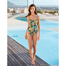 SunSelect® Swimsuit, Hibiscus - This swimsuit has the same effect as a good sun cream.