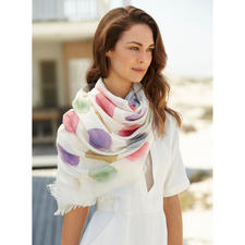 """Ancini """"Aquarell"""" Dotted Scarf - Six exquisite aquarelle shades. Generous size. Durable material."""