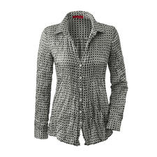 Non-Iron Crushed Silk Blouse - Space-saving lightweight that fits easily in a suitcase and weighs only 86g (30oz).