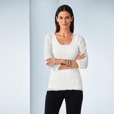 "Shelley Komarov Travel-Shirt ""Pleated"" - Effortlessly well dressed. Comfortable, easy-care yet elegant."