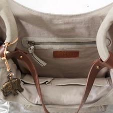 Anokhi Hobo Bag, Stone grey