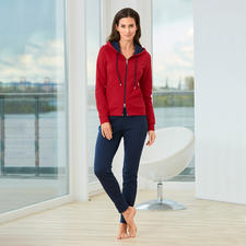Pima Cotton Homesuit - Patterns too bright, solids too boring? Colour blocking is the right, stylish middle road.