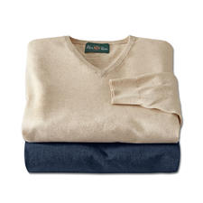 Alan Paine Linen Cotton Jumper - Perfect for the summer. Ideal throughout the year. The finely knitted jumper made of linen and cotton.