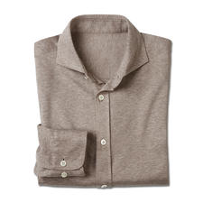 Dorani Jersey Shirt - As formal as a shirt, yet as comfortable as a T-shirt. Soft cotton jersey, woven by specialist Tessilmaglia.