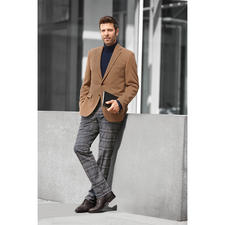 Kastell Camel Hair Sports Jacket - Exquisite and yet affordable: The pleasantly warm luxury of a real camel hair jacket. Chic cloth from Italy.