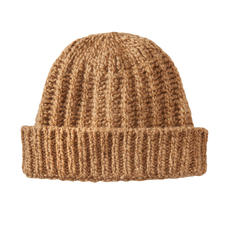 Fisherman Camel Hair Hat - A rare luxury made from camel hair. As soft as down. Wonderfully warm. Naturally coloured.
