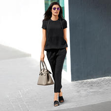 SLY010 24 Hour Top or Trousers - The elegant two-piece with 24-hour potential. Real competition for your little black dress.