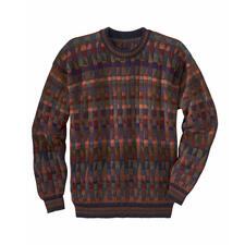 "Alpaca Pullover ""Mosaiko"" - A work of art made in the Andes from 100% alpaca. Hand-knit in 28 colours. This mosaic is not laid but knitted."
