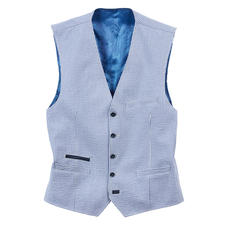 Carl Gross Seersucker Waistcoat - The airy, light seersucker waistcoat: Wonderfully cool and doubly fashionable. By Carl Gross, since 1925.