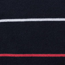 Smedley Striped Twinset, Navy/Red/White
