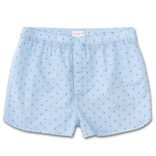 Derek Rose New Boxer Shorts, Light blue - Contemporary narrow cut. Traditional origins. Boxer shorts from underwear specialist Derek Rose, London.