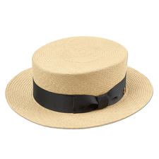 Mayser Boater - Wear the original boater by Mayser: Made of genuine Panama straw, plaited by hand in Ecuador.