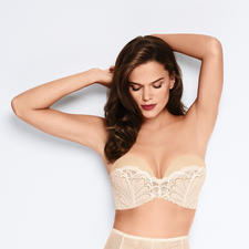 "Wonderbra® Bandeau Lace Bra - The ""Perfect Strapless Lace Bra"" with unique ""Wonderbra effect"". By Wonderbra®, established 1994. Strapless."