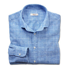 Ingram Linen Mix Business Shirt - Just the right mix of linen and cotton –  a pleasant climate yet always smart. Shirt with classic glen check.
