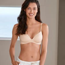 Seamless Soft Bra, Nude - Seductively shaping. Seamless soft bra with innovative injection moulded underwiring.