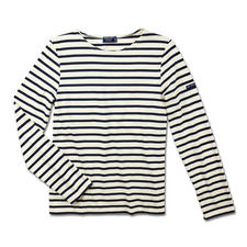 Long-sleeved Bretagne Shirt or Brittany T-Shirt for Men - The original shirt from Brittany. As worn by fishermen since the 19th century. By Saint James, France.
