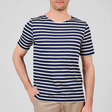 T-Shirt, Navy/Ecru