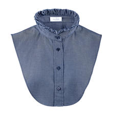 van Laack Denim Collar - Casual denim fabric. Elegant blouse-like look, but nothing feels tight or makes you look larger.