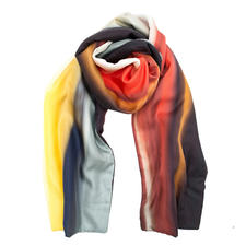 Silk Winter Scarf - Elegant silk scarf for the coldest months of the year. With warm fleece interlining. By Abstract, Italy.