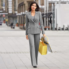 Barbara Schwarzer Suit Blazer or Trousers - Elegant wool look. Tailored cut. Modern design. Material suitable for everyday wear.