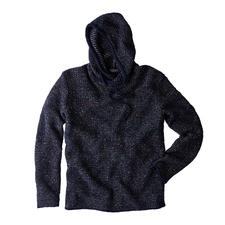 Phil Petter Tweed Mix Knitted Hoody - Fashion favourite: Knitted hoody – in a new look thanks to effect yarn. By Phil Petter, Austria.