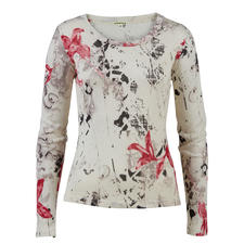 Pashma 30-gauge floral pullover - Very few fashionable print pullovers are this luxurious (and yet affordable). By Pashma, India.
