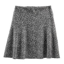 Cotton Jersey Swinging Skirt - Tweed look but new lightweight fabric – soft cotton jersey. Perfect for the trendy swinging skirt cut.