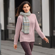 Textured Knitted Sweater - Trendy in 4 ways. Purely natural. And yet cheaper than many similar pullovers.