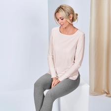 Long Shirt, Rosé and Jogging Trousers