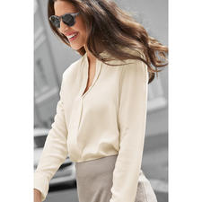 SLY010 Couture Slip-on Blouse - Very elegant despite casual shape: The basic blouse by SLY010, Berlin. Luxurious stretch silk.