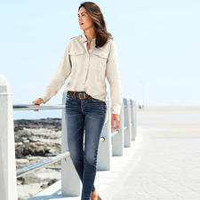 Aigle Fashion Functional Blouse - A functional outdoor blouse can be this casual. Dry-fast fabric with UV protection: Light, airy, quick to dry.