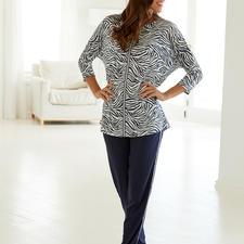 "980c5c380f Hutschreuther Pyjamas ""Blue Zebra"" More fashionable than most pyjamas.  Oversized cut. Animal"
