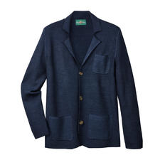 Alan Paine Piqué Knitted Sports Jacket - Lightweight wool + piqué knit: Airy and yet shape-retaining. By Alan Paine.