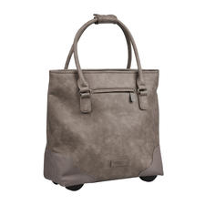 Fritzi aus Preußen Trolley Tote Bag - Always elegant. Ample capacity. Never too heavy. The XL tote bag with hidden trolley function.