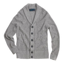 Carbery Aran Summer Cardigan - Aran knit art in a summery style. The airy linen/cotton cardigan – made in Ireland by Carbery.