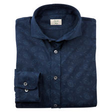 Dorani Paisley Jersey Shirt - Smooth, dark and with a subtle pattern: This is how elegant a jersey shirt can be.
