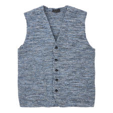 Phil Petter Mouliné Waistcoat - This fashionable knitted waistcoat is truly unique. The knitted mouliné waistcoat by Phil Petter from Austria.