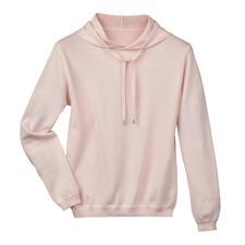 Cotton Cashmere Hoodie - The secret: Cotton/cashmere knit instead of conventional sweatshirt fabric.