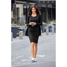 Cardigan, Shirt and Skirt , Black